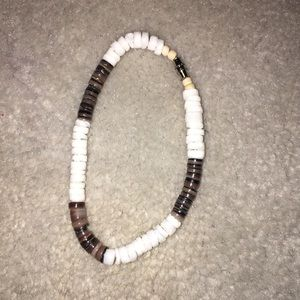 Jewelry - Brown and white shell bracelet anklet